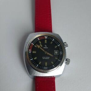 40 mm Yema Compressor Sous Marine Automatic Diver 2 crown watch Fe  cal. 3611