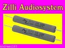 AZ AUDIOCOMP R10.4B7 Coppia resistenze da 4,7 Ohm 10 W antinduttive Best NUOVE