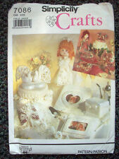 Wedding Accessories Doll Cake Topper Guest book photo album pattern 7086 uncut
