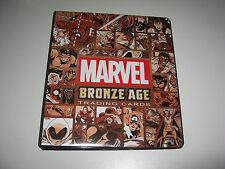2012 Marvel Bronze Age: ENTIRE MASTER SET: Binder, Case Toppers, Promos+ BV=$320