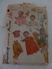 Simplicity Baby Doll Clothes Pattern 3406  Size 14