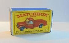 Repro Box Matchbox 1:75 Nr.71 Jeep Pick Up