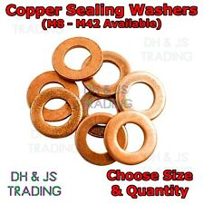 Copper Sealing Washers Metric - M4 M6 M8 M10 M12 M14 M16 M20 Flat Seal Washer