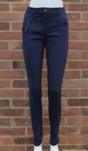 Next Zip Skinny Trousers Colour Black, Navy, Violet All Sizes