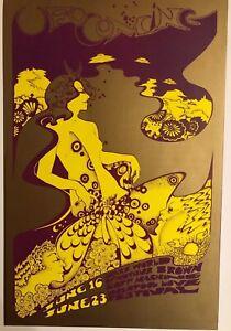 "UFO Coming Hapshash & Arthur Brown Soft Machine Vintage 70's Poster 15""x10 R43"