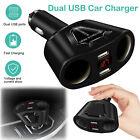 12V Car LCD Cigarette Lighter Socket Splitter DC Dual USB Charger Power Adapter
