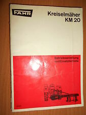 Fahr faucheuse KM20 : Betriebsanieltung