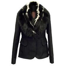 Miu Miu Denim Jacket Raccoon & Kangaroo Fur Fall/Winter Size 44IT
