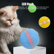 Waterproof Pet USB Ball Toy Jumping Ball Electric LED Rolling Flash Ball Cat Toy