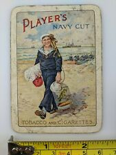 Single Playing Card Old Cigarettes Tobacco Player's Navy Cut Advertising Vtg US