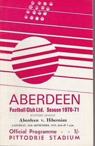 Aberdeen v Hibernian 26 Sep 1970