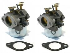 (2) CARBURETORS & Gaskets for Tecumseh 8hp 9hp HMSK80 HMSK90 Snowblowers