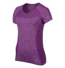 Nike Dri Fit Knit Short Sleeved T Shirt Women's Uk Extra Small (718569 556)