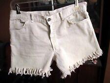 31 TRUE VTG 60s 13 Star Button Trashed Raw Denim Cut Off Trashed Shorts