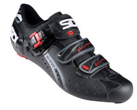 SIDI Genius Fit Bike Men's Carbon Road Shoes BLACK LEATHER Size 42 ITALY $249.99