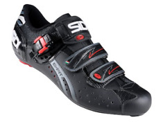 SIDI Genius Fit Bike Men's Carbon Road Shoes BLACK LEATHER Size 42 ITALY $249.99