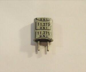 HC-25/U Radio Crystal - 11.2750 MHz - UNI - .039 Pins