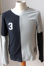 Equi Theme Langarm Shirt,schwarz/grau,Gr. L