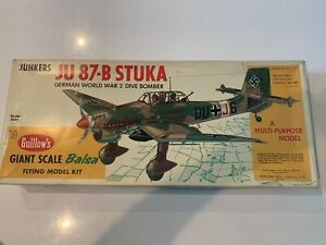 """Guillows--Flying Model-#1002--Junkers JU-87B Stuka Dive Bomber-34 1/4"""" W/S Kit"""