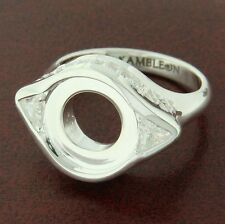 Authentic Kameleon KR016 Filagree Ring with Triangle Size 8 Sterling Silver