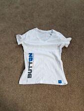 Ladies White T-Shirt, Size M, Jenson Button, Vodafone McLaren Mercedes Formula 1