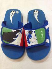 Ciabatte bambino - colore  blu con scritta ITALIA - N° 30 - USATE