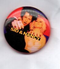 SID & NANCY BUTTON BADGE  PUNK  SEX PISTOLS >> CLASSIC PUNK ROCK