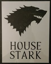 "GOT Game of Thrones House Stark 8.5"" x 11"" Custom Stencil FAST FREE SHIPPING"