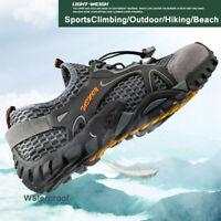 New Men Hiking Shoes Mesh Outdoor Sneakers Climbing Boots Trekking Water Shoes