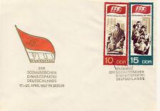 Ersttagsbrief DDR MiNr. 1269, 1270, Parteitag der Sozialistischen Einheitspartei