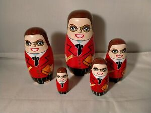 Russian Teacher Matryoshka Nesting Dolls - 5 Pcs. Set (2019A)