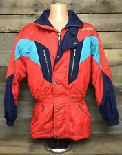 Vintage DESCENTE Men's Winter Ski Jacket Coat Color Block, Excellent, Flawless