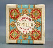 Antique Art Nouveau French AKA Powder Box Poudre de Riz POMPILIA Cardboard Empty