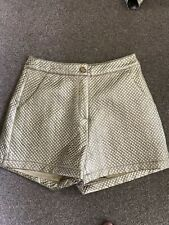 UK 10 GOLD PATTERNED SHORTS FESTIVAL/TOWIE/IBIZA/CLUB/PARTY/TOWIE/CELEB/KIM  NEW