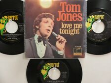 LOT OF 4 'TOM JONES' HIT 45's+1PS[Love Me Tonight/Hide and Seek]  THE 60's&70's!