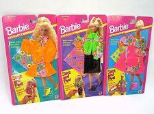Barbie Stick & Peel Fashions Stickers Vintage 90s MOC Lot of 3 Neon Dress Vinyl