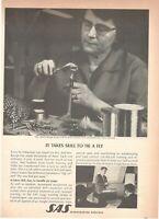 1969 Original Advertising' SAS Scandinavian Airlines System Company Aerial Takes