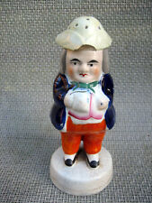 Antique Victorian Staffordshire pottery figurine Toby style pepper or salt pot