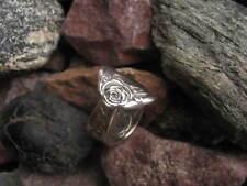 Ring Size 6.5 R363 Vintage Cottage Rose Garden Spoon