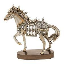 New Silver Horse Standing Statue Ornament Figurine 65033