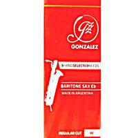 "Gonzalez ""Regular Cut"" Baritone Saxophone Reeds Strength 2.5, Box of 5"