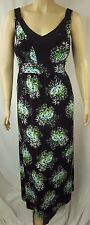 beme Black Multi Floral Sleeveless Soft Stretch Dress Plus Size 16 #m5