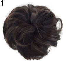 Women DIY Elastic Curly Messy Bun Hair Piece Scrunchie Chignon Ponytail Headwear