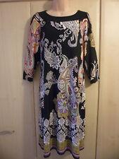 Paisley 3/4 Sleeve Casual Dresses Midi