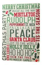 Tin Sign Retro Christmas