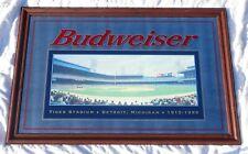 """Huge Budweiser Detroit Tiger Stadium Mirror 59� x 40"""" Good Condition"""