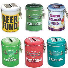 Money Boxes Vintage Novelty Funny Slogan Fart Beer Fund Swearing Adult Xmas Gift
