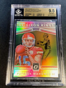 PATRICK MAHOMES 2017 DONRUSS OPTIC #2 GRIDIRON KINGS REFRACTOR RC ALL BGS 9.5