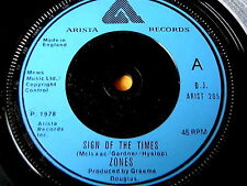 """ZONES - SIGN OF THE TIMES    7"""" VINYL"""