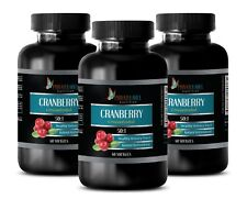 Detox body cleanse - CRANBERRY CONCENTRATE 50:1 anti aging - 3 Bot 180 Capsules